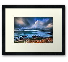 Brooding Storm Clouds Framed Print