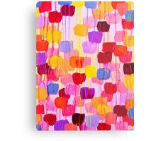 DOTTY in Pink - October Special Revisited Bold Colorful Polka Dots Original Abstract Painting Metal Print