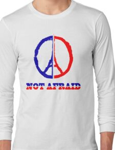 Paris not afraid 2015 Long Sleeve T-Shirt