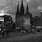 St Pauls from Federation Square by Andrew  Makowiecki