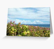 Leighton Beach Flowers - 07 10 12 Greeting Card