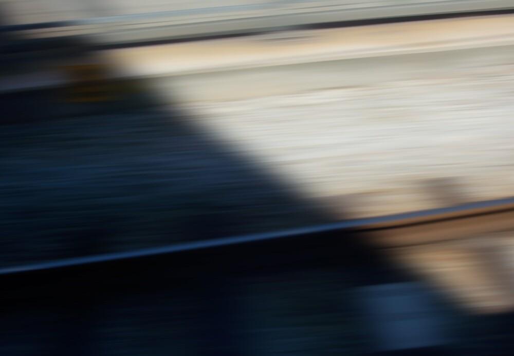 Train Motion Blue Three 16 10 12 by Robert Phillips