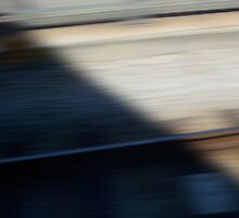 Train Motion Blue Three 16 10 12 by Robert Phillips