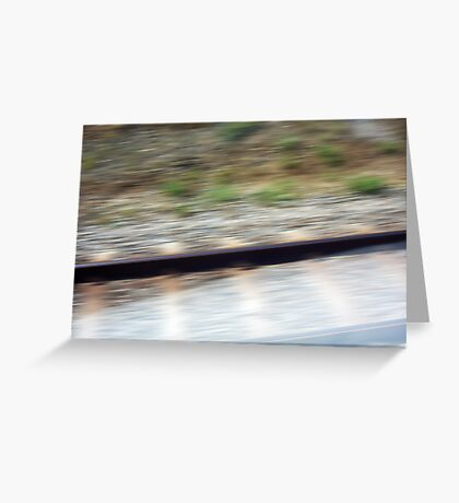 Train Motion Blue One 16 10 12 Greeting Card
