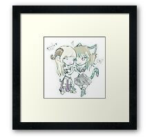 3 lives and counting mascots  Framed Print