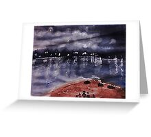 Across the Bay, watercolor Greeting Card