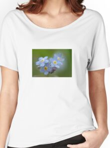 Close-up Forget Me Not - Blue Myosotis Women's Relaxed Fit T-Shirt