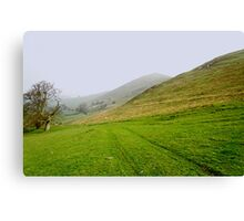 Bunster Hill Footpath at Ilam  Canvas Print