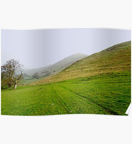 Bunster Hill Footpath at Ilam  Poster