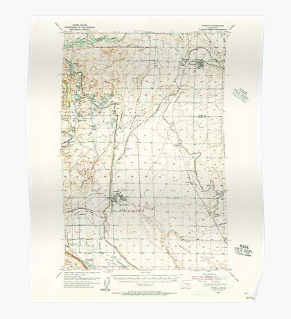 USGS Topo Map Washington State WA Othello 243032 1954 62500 Poster