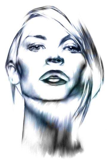 Claire Danes portrait by wu-wei