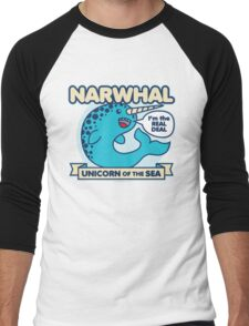 Narwhal Men's Baseball ¾ T-Shirt