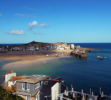 St Ives Harbour in Autumn by Phill Sacre