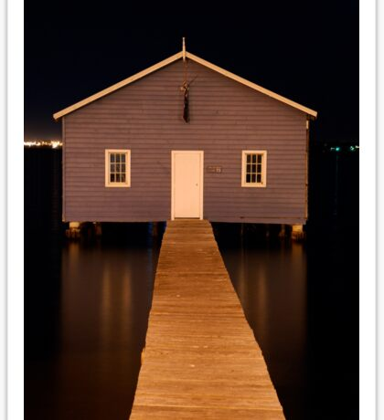 little boatshed on the river Sticker