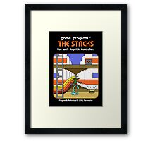 The Stacks Framed Print