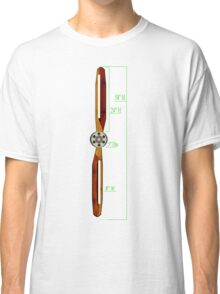 Old Wooden Propeller Schematic Classic T-Shirt
