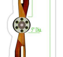 Old Wooden Propeller Schematic Sticker