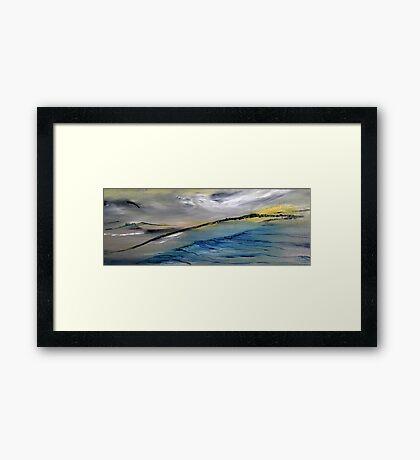 Barren landscape Framed Print