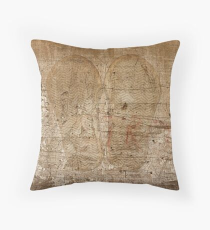 white abstract wall Throw Pillow