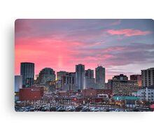 Sunrise Over Downtown Edmonton Canvas Print