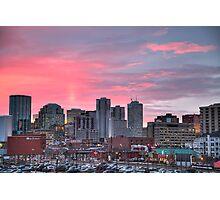 Sunrise Over Downtown Edmonton Photographic Print