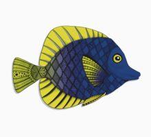 Blue & Yellow Fish Kids Tee