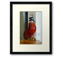 Peppered Rooster Framed Print