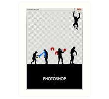 99 Steps of Progress - Photoshop Art Print