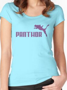 Panthor brand athletic footwear logo Women's Fitted Scoop T-Shirt