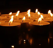 Small candles in the night by Susanna Hietanen