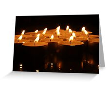 Small candles in the night Greeting Card