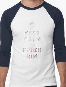 Keep Calm and Finish Him Men's Baseball ¾ T-Shirt