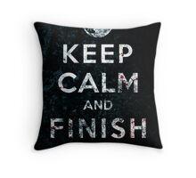 Keep Calm and Finish Him Throw Pillow