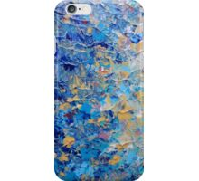 HYPNOTIC BLUE SUNSET - Simply Beautiful Royal Blue Navy Turquoise Aqua Sunrise Abstract Nature Decor iPhone Case/Skin