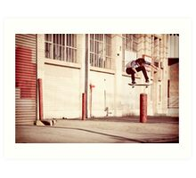 Austyn Gillette - Backside Flip - Los Angeles - Photo Aaron Smith Art Print