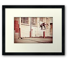 Austyn Gillette - Backside Flip - Los Angeles - Photo Aaron Smith Framed Print