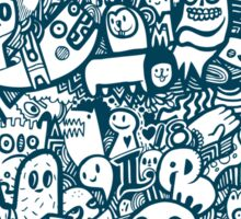 Blue Doodle  Sticker