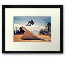 Ray Barbee - 360 Flip - Arizona - Photo Aaron Smith Framed Print
