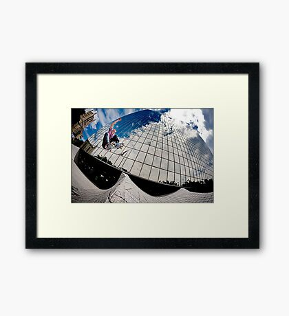 John Fitzgerald - Ollie - Los Angeles - Photo Aaron Smith Framed Print