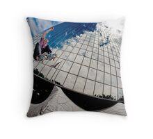 John Fitzgerald - Ollie - Los Angeles - Photo Aaron Smith Throw Pillow