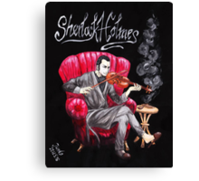 Sherlock Holmes playing Violin Canvas Print