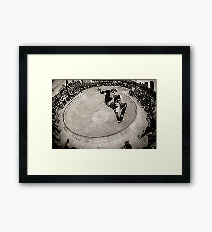 Christian Hosoi - Air - New York - Photo Aaron Smith Framed Print