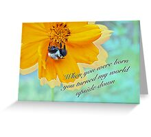 Child Birthday Greeting From Parent Parents - Cosmos and Bumblebee Greeting Card