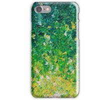 LAKE GRASS - Original Acrylic Abstract Painting Lake Seaweed Hunter Forest Kelly Green Water Lovely iPhone Case/Skin