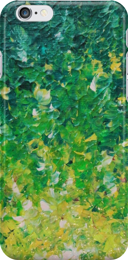 LAKE GRASS - Original Acrylic Abstract Painting Lake Seaweed Hunter Forest Kelly Green Water Lovely by EbiEmporium