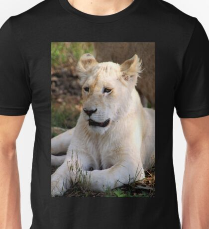 Adolescent Male White Lion Unisex T-Shirt