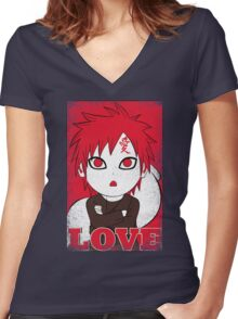 I Love Cute Women's Fitted V-Neck T-Shirt