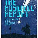 Retro &#x27;The Roswell Report&#x27; Book Cover Print by Creative Spectator