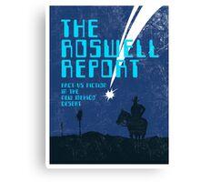 Retro 'The Roswell Report' Book Cover Print Canvas Print