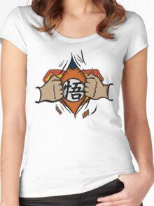 Super saiyan man Women's Fitted Scoop T-Shirt